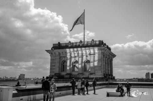 Auf dem Reichstag.